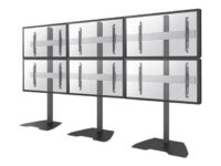 NewStar NeoMounts PRO NMPRO-S32 - Floor stand for 3x2 video wall (fixed) - bl...